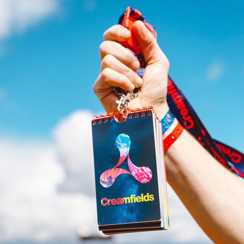 Creamfields festival lanyard