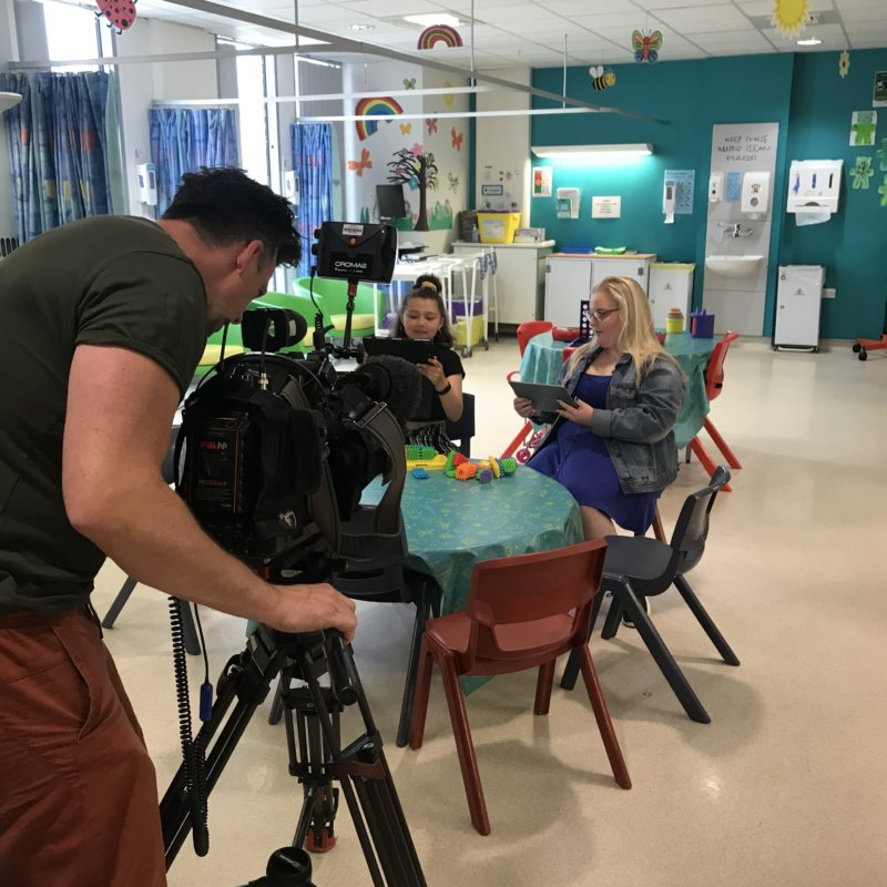 BBC recording at RMCH July 2019