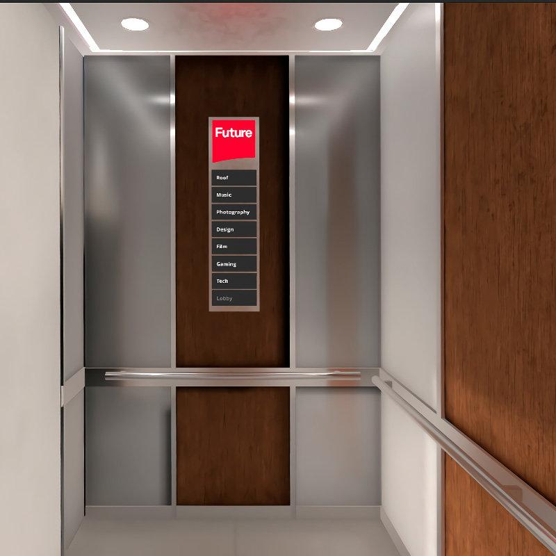 Lift modelled / textured