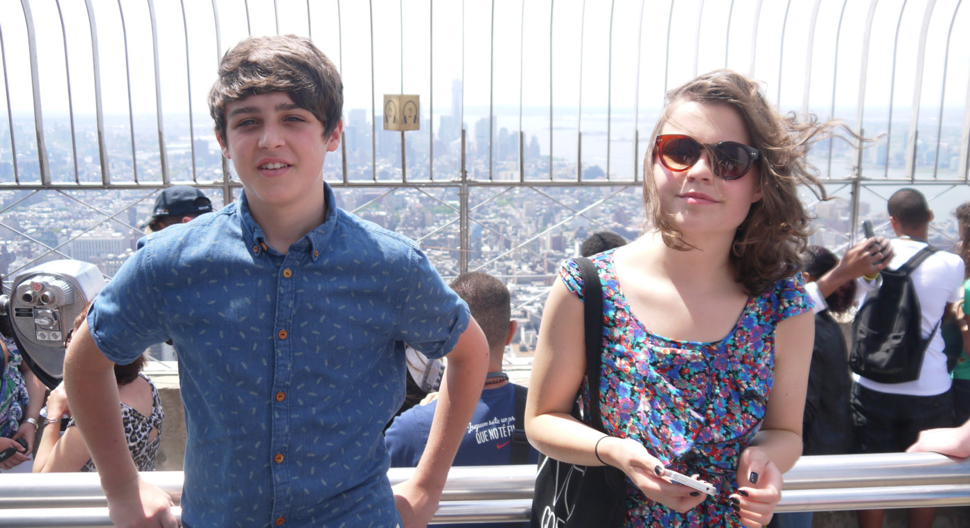 Oscar and Issy on the Empire State Building