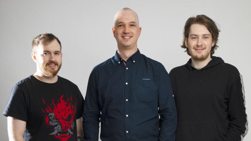 L-R Dom Corroboy, Stuart Palmer, Peter Greenhalgh